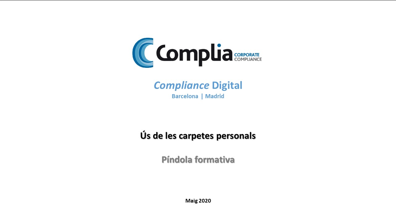 Píndoles formatives | Carpetes personals